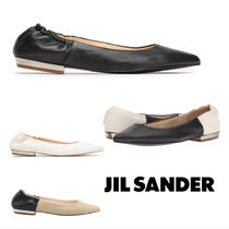 Jil Sander Casual Style Leather Slip-On Shoes