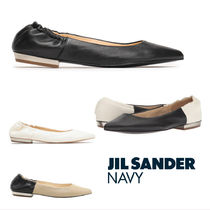 JIL SANDER NAVY Casual Style Leather Pointed Toe Shoes