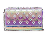 Christian Louboutin Paloma Studded Chain Leather Party Style Clutches