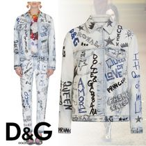 Dolce & Gabbana Star Casual Style Street Style Medium Jackets