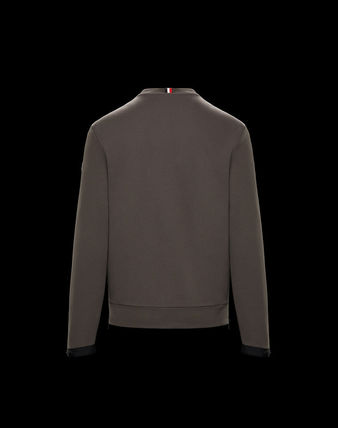 MONCLER Sweatshirts Crew Neck Pullovers Street Style Long Sleeves Plain Cotton 3