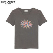 Saint Laurent Casual Style Plain Cotton Short Sleeves Shirts & Blouses