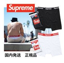 Supreme Street Style Collaboration Plain Cotton Boxer Briefs