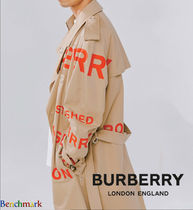 Burberry Other Check Patterns Unisex Street Style Long Oversized