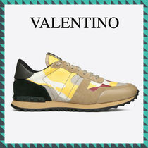 VALENTINO Unisex Studded Leather Sneakers