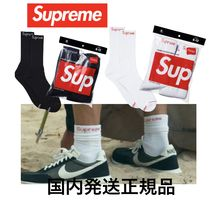 Supreme Street Style Collaboration Bi-color Plain Cotton