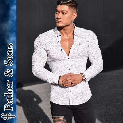 Street Style Long Sleeves Cotton Shirts