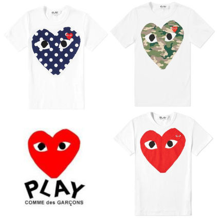Heart Street Style Plain Cotton Short Sleeves T-Shirts