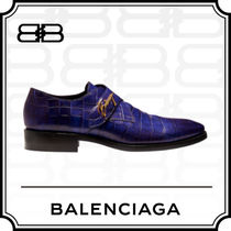 BALENCIAGA CITY Monk Leather Loafers & Slip-ons