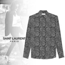 Saint Laurent CREPE DE CHINE GOTHIC SHIRT