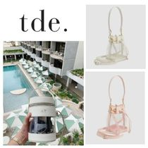 The Daily Edited Casual Style Leather Crystal Clear Bags Shoulder Bags