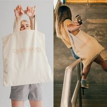 Quik Silver Casual Style Canvas A4 Plain Totes