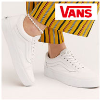 a1e5fbc8f5cbb0 VANS OLD SKOOL Platform Lace-up Casual Style Unisex Suede Street Style