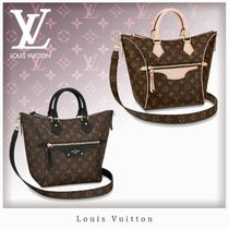 Louis Vuitton MONOGRAM Monogram Unisex Blended Fabrics 3WAY Bi-color Leather