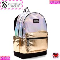 Victoria's secret PINK Casual Style Collaboration Plain Backpacks