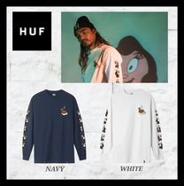 HUF Crew Neck Unisex Street Style Collaboration Long Sleeves