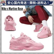 MARTINE ROSE Street Style Collaboration Plain Leather Sneakers