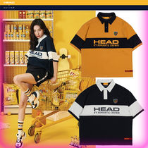 HEAD Casual Style Unisex Street Style Bi-color Cotton Polo Shirts