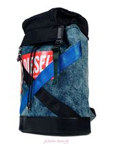 DIESEL Denim A4 Backpacks