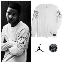 Nike AIR JORDAN Street Style Collaboration Long Sleeves Cotton
