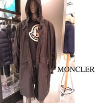 MONCLER Plain Long Trench Coats