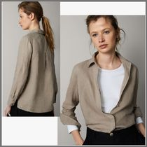 Massimo Dutti Casual Style Linen Long Sleeves Medium Shirts & Blouses