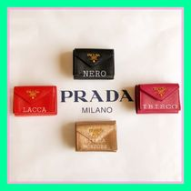 PRADA Unisex Leather Folding Wallets