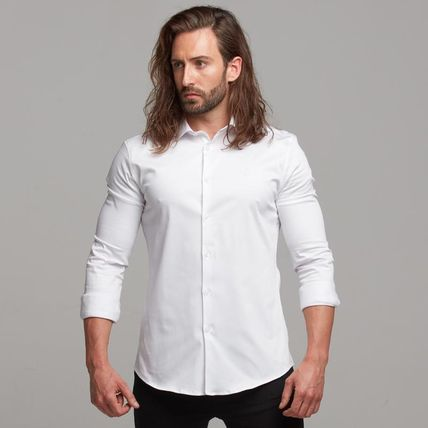 Father & Sons Shirts Button-down Street Style Long Sleeves Plain Cotton Logo 2