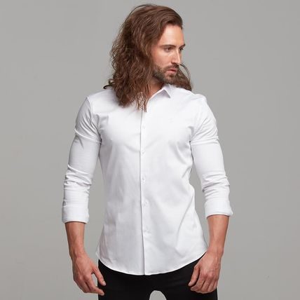 Father & Sons Shirts Button-down Street Style Long Sleeves Plain Cotton Shirts 6