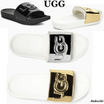 UGG Australia Casual Style Sheepskin Shower Shoes Flat Sandals