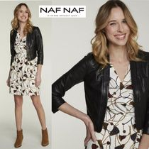 NAF NAF Short Plain Leather Boleros & Shawls