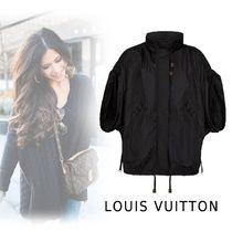 Louis Vuitton 2019-20AW HOODIE COAT WITH GATHERED SLEEVE black 32-42 Tops