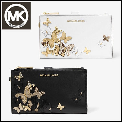 a367e5ac613d4d ... Michael Kors Long Wallets Adele Butterfly Embellished Leather  Smartphone Wallet ...