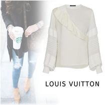 Louis Vuitton 2019-20AW RUFFLE BLOUSE white 34-38 Shirts&Blouses