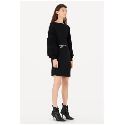 Louis Vuitton Dresses 2019-20AW LONGSLEEVE BY FABRIC DRESS black 34-40 Dresses   6