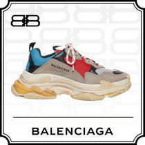 BALENCIAGA Triple S Casual Style Low-Top Sneakers