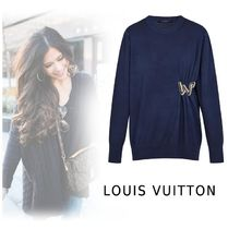 Louis Vuitton 2019-20AW KNIT PULLOVER navy XS-XL Cashmere