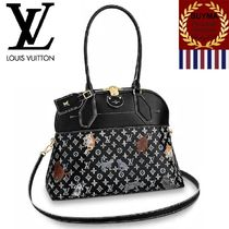 Louis Vuitton ALMA Monogram Casual Style Canvas A4 2WAY Other Animal Patterns