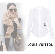 Louis Vuitton 2019-20AW SHIRT WITH EMBROIDERY PATCH white 34-40 Tops