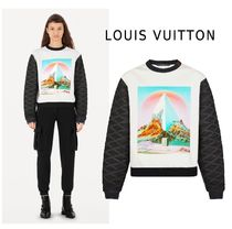 Louis Vuitton 2019-20AW PRINT SWEAT SHIRT white XS-3L Hoodies&Sweatshirts