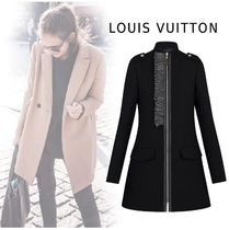 Louis Vuitton 2019-20AW ZIP-UP RUFFLE COAT black 34-38 More Coats
