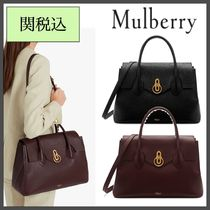 Mulberry A4 2WAY Plain Leather Office Style Bold Handbags