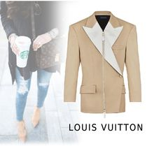 Louis Vuitton 2019-20AW ZIP-UP LEATHER beige 34-38 More Jackets