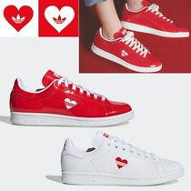 adidas STAN SMITH Heart Casual Style Unisex Low-Top Sneakers