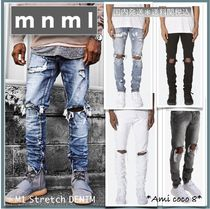 MNML Denim Street Style Plain Jeans & Denim