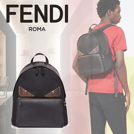720ab2c59e9c FENDI BAG BUGS 2019 SS Nylon Backpacks (7VZ042A6FLF0KUR) by Lastin34 ...