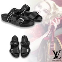 Louis Vuitton Open Toe Platform Leather Elegant Style