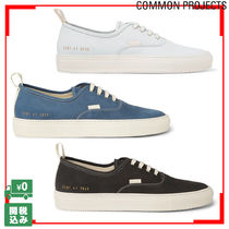 Common Projects Unisex Plain Leather Sneakers