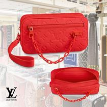 Louis Vuitton TAURILLON 2WAY Chain Leather Clutches