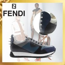 FENDI Studded Leather Sneakers